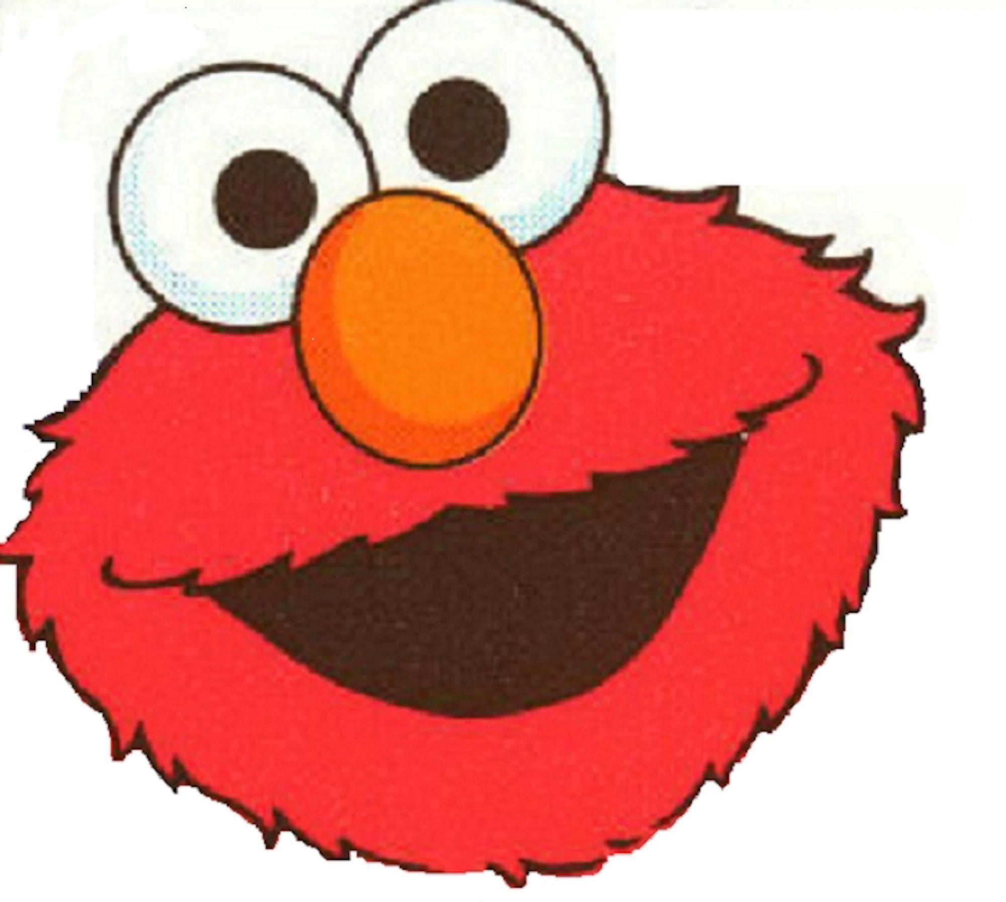 elmo face on white background | Sesame street | Pinterest | Sesamo ...
