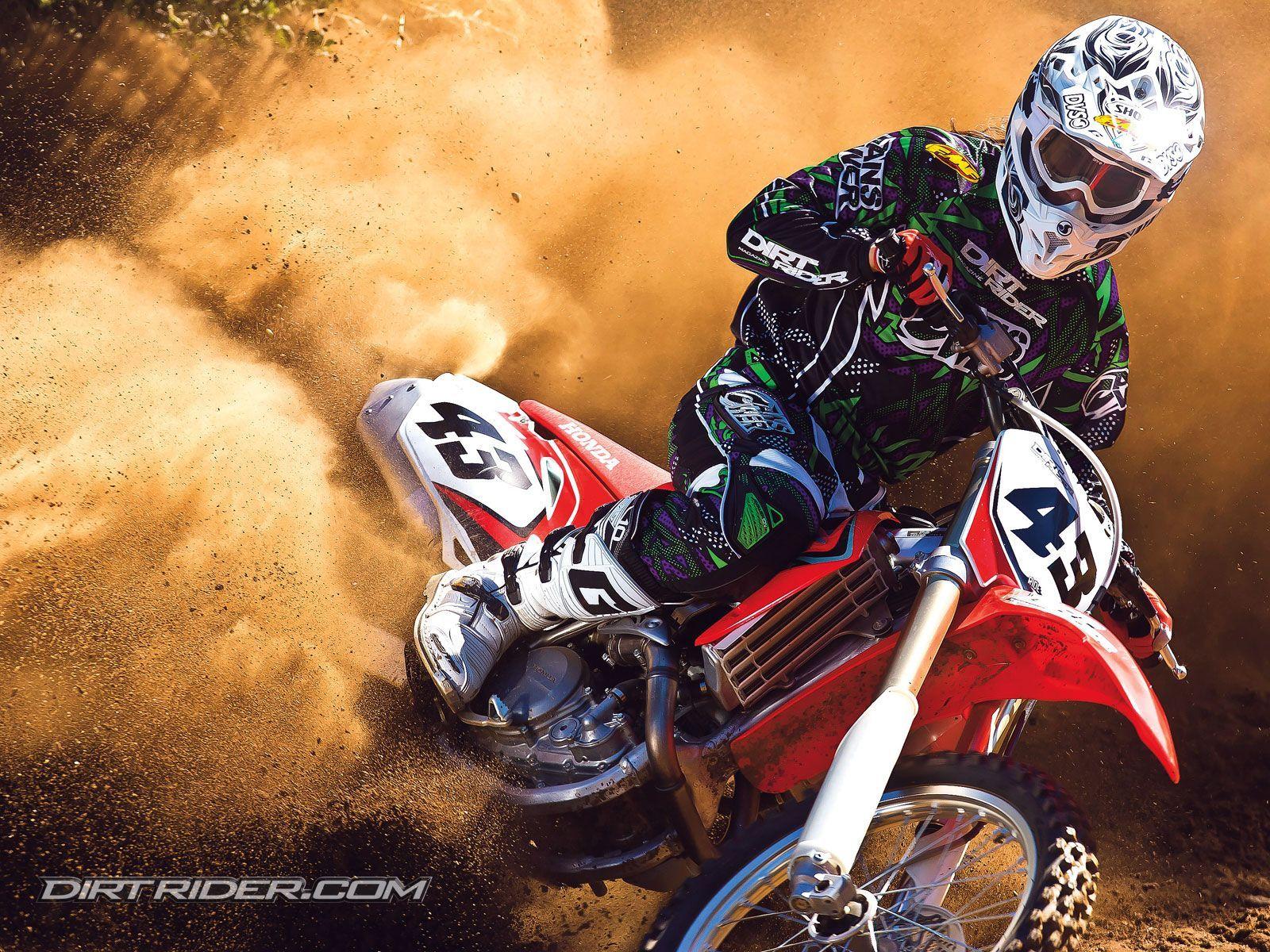 High Resolution Motocross Honda Dirt Bike Wallpaper HD 2