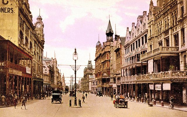 Adderley Street, Cape Town in the early 1900s