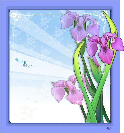 IRIS FLOWER FRAME VECTOR | cgspring | Pinterest | Flower frame, File ...
