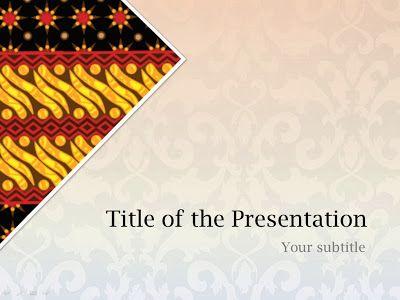 Batik Indonesia Powerpoint Templates Batik Art Powerpoint Background Design Batik