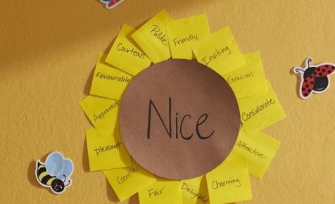 Sunflower Synonyms With Post It Super Sticky Notes Teacher Activities Synonym Activities Synonyms For Writing