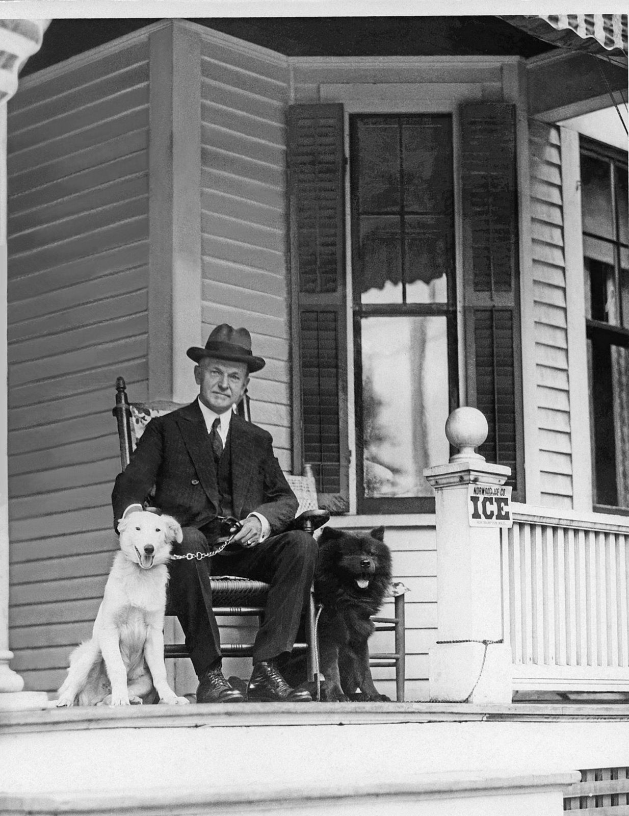 President Calvin Coolidge And His Chow Timmy Pets Vintage Dog