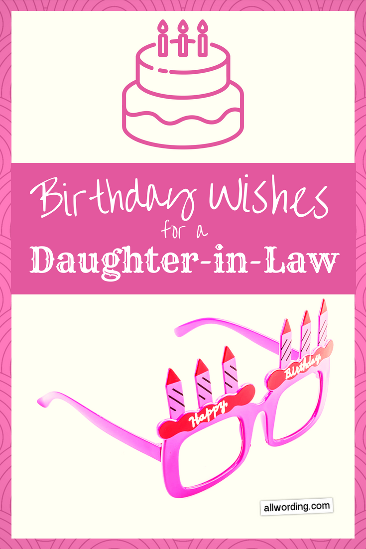20 Special Birthday Wishes For a DaughterinLaw
