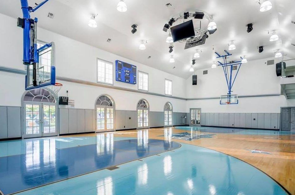 This 32 Million Dallas Estate Has Its Own Private Waterpark Mansions Texas Mansions Indoor Basketball Court