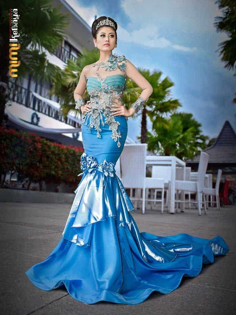 mermaid wedding dress frozen theme  Gaun pengantin putri duyung