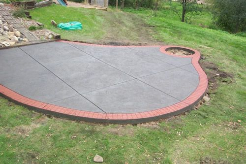 Stamped Concrete Brick Border Patio | ... Concrete Patios   Woodbury,  Minnesota