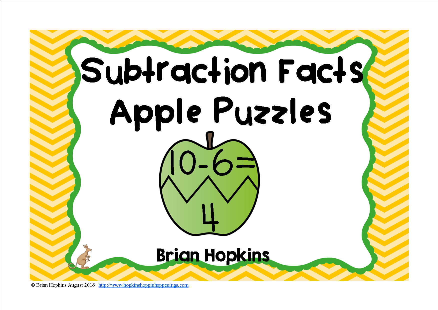 Apple Puzzles Subtraction Facts | Early finishers, Math and ...
