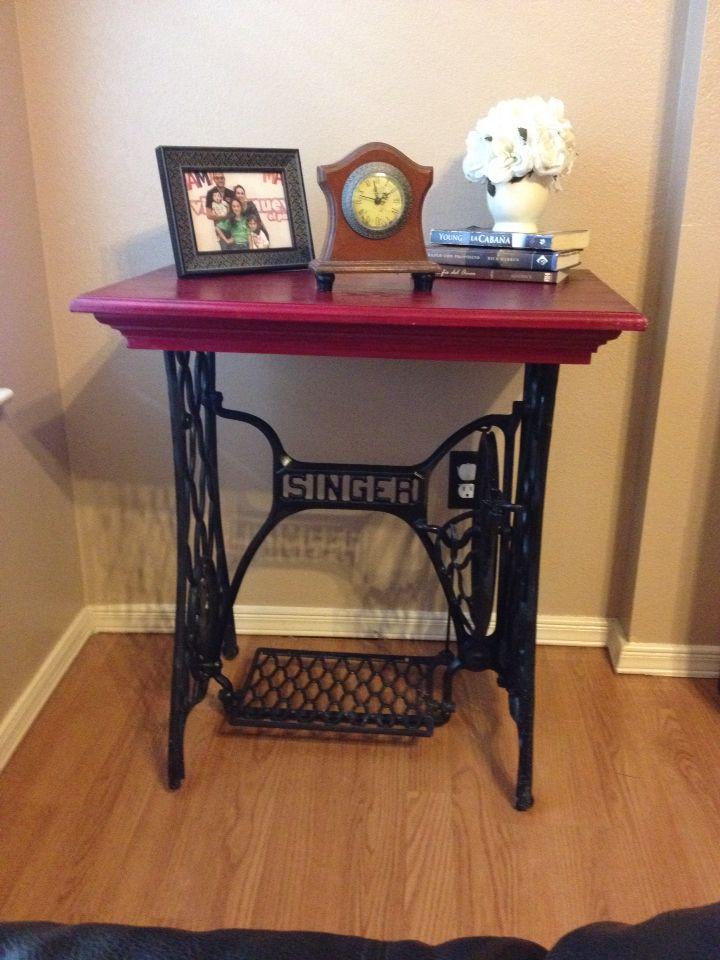 Mesa reciclada muebles pinterest reciclado mesas y for Diseno de muebles de maquinas de coser