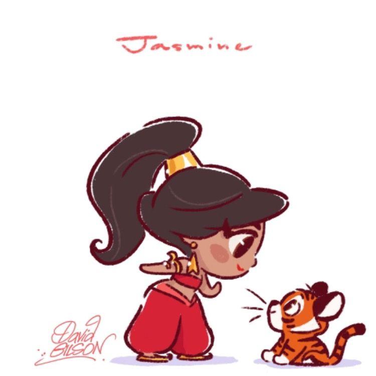 Aladdin jasmine by david gilson cartoons and more pinterest princesse disney disney and - Dessiner aladin ...