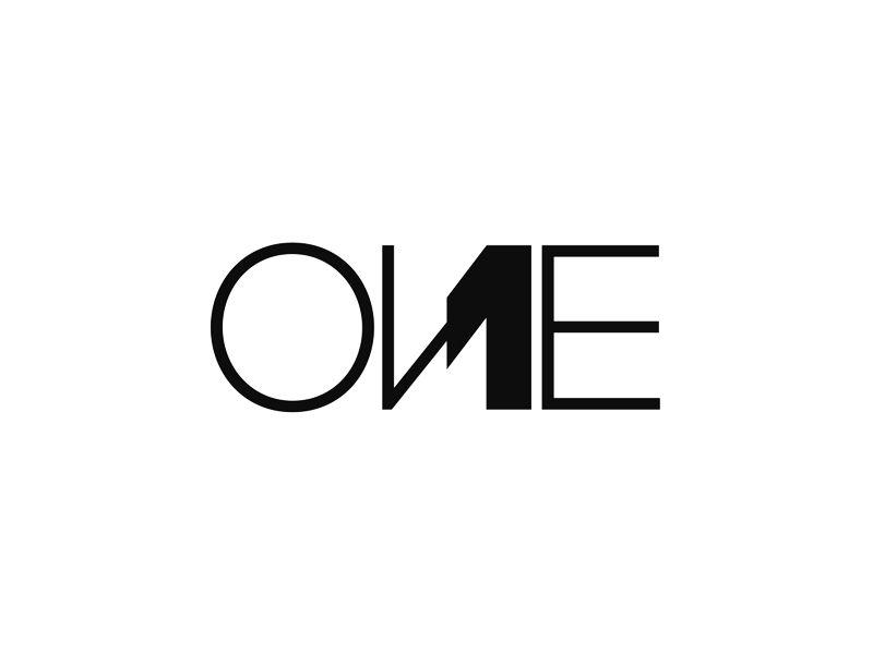 One 1 Creative Word Mark Logotype Logo Design Logos