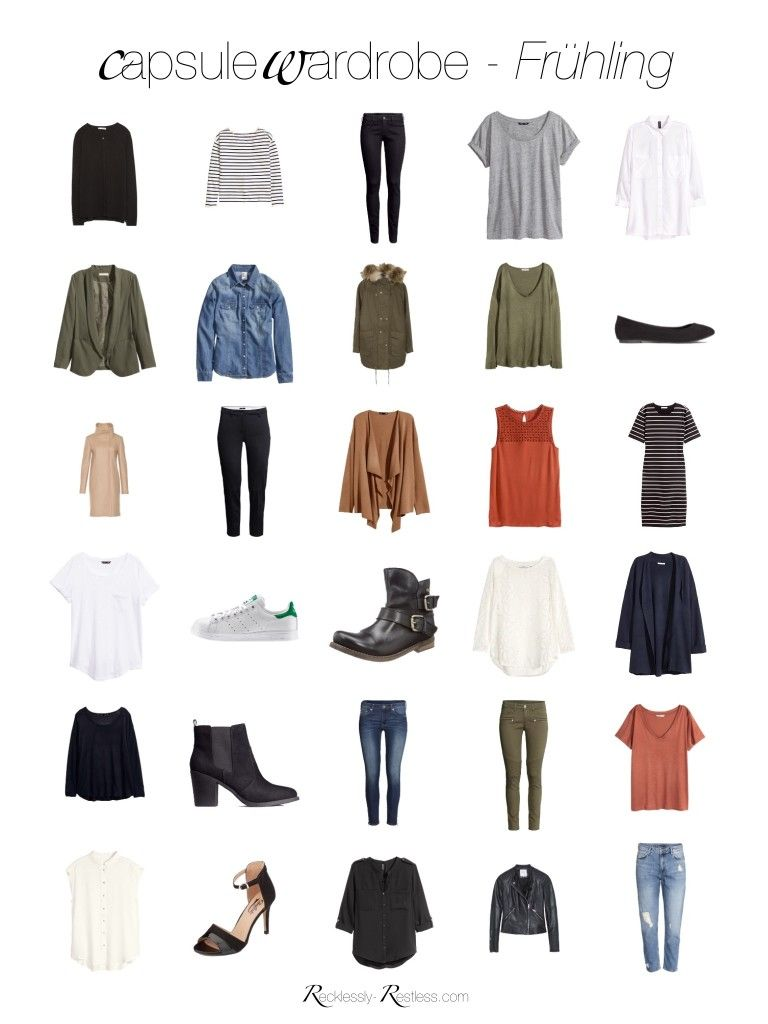 Spring capsule wardrobe 2016 meine fr hlings garderobe for Minimalistischer kleiderschrank