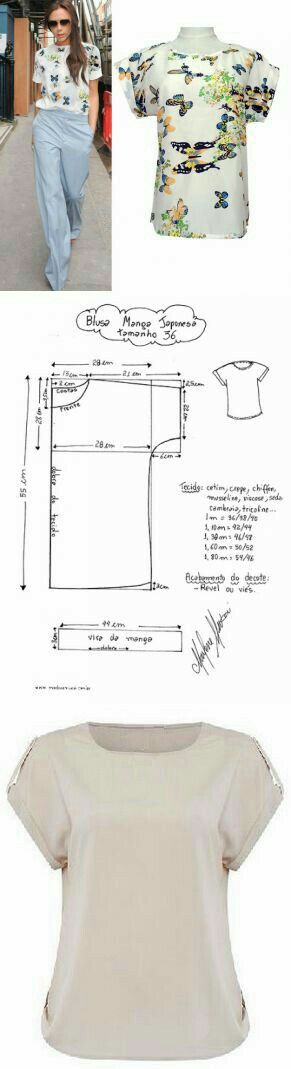 Pin by Lee-Ann Seid on sewing | Pinterest | Costura, Blusas and Patrones