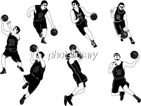 イラスト スポーツ モノクロ バスケットボール バスケットボール イラスト イラスト モノクロ