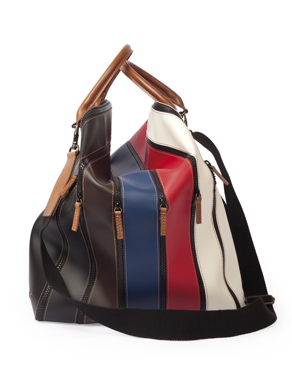 Bag 2.0 • 5 expansion • Color Mix  29 x 37 x 32 (cm) • leather & rubberize canvas  MADE IN ITALY $290