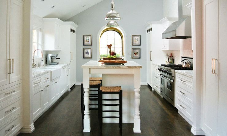 Courtney Blanton Interiors Kitchens Restoration Hardware Silver Sage White Shaker Cabinets