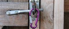 Spring Clip On Gate Latch How A Carabiner Can Save Your Dog S Life Dog Gate Backyard Gates Gate Latch