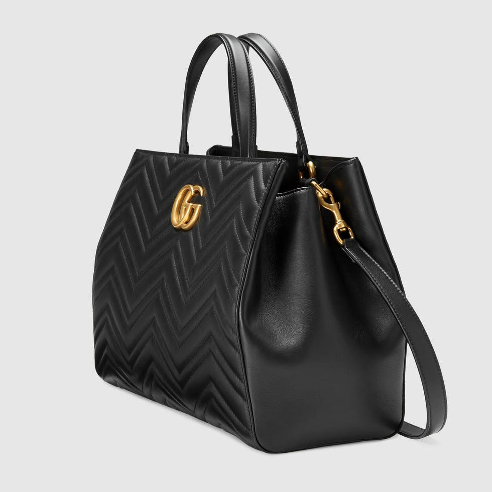 3a65e376224 GG Marmont matelassé top handle bag
