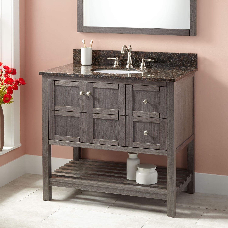 Best 36 Everett Vanity For Undermount Sink Ash Gray 400 x 300