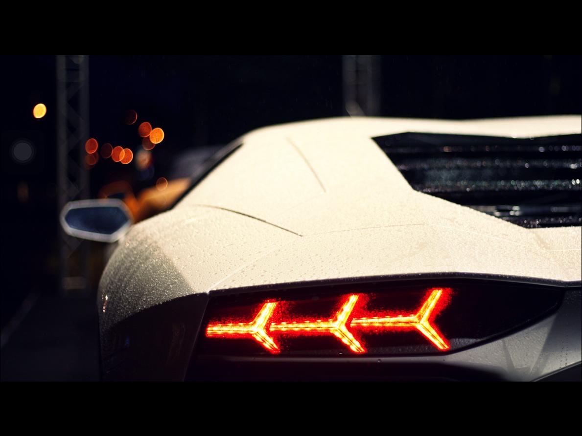 Backlights Of Lamborghini Aventador Vroom Vroom Lamborghini