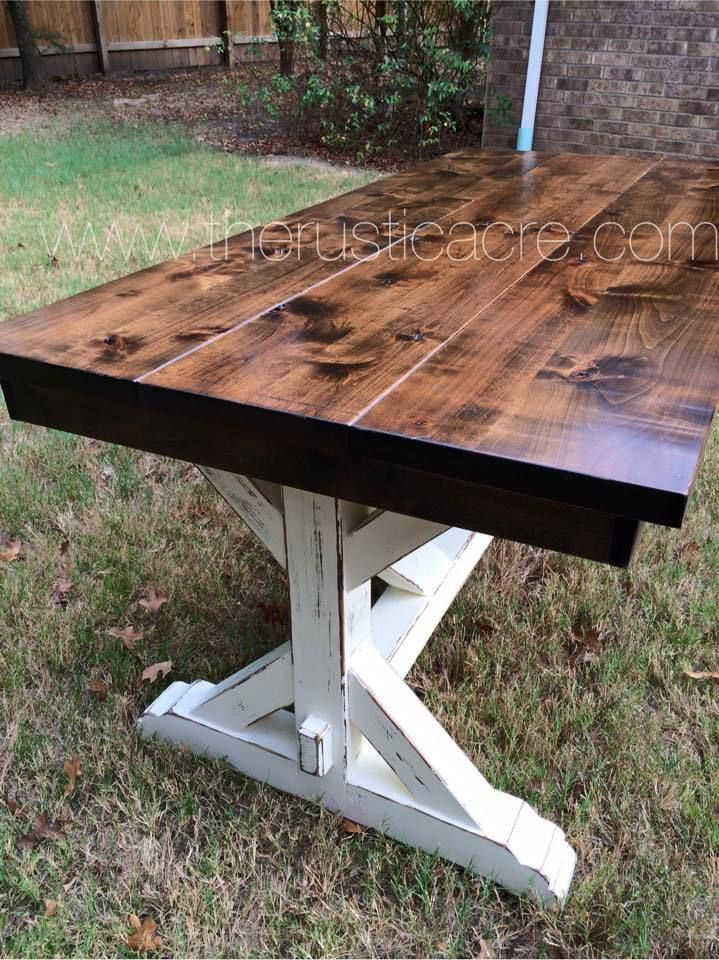 Knotty Alder Farm Table | Rustic & Farmhouse furniture ...