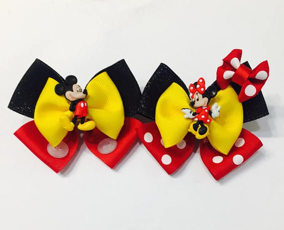 """7//8/"""" OKLAHOMA SOONERS INSPIRED GROSGRAIN RIBBON HAIR BOWS PARTY DECORATIONS"""
