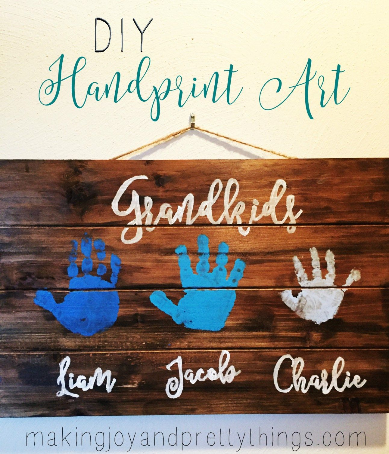 Quick And Easy Diy Handprint Art Perfect For Grandparents And