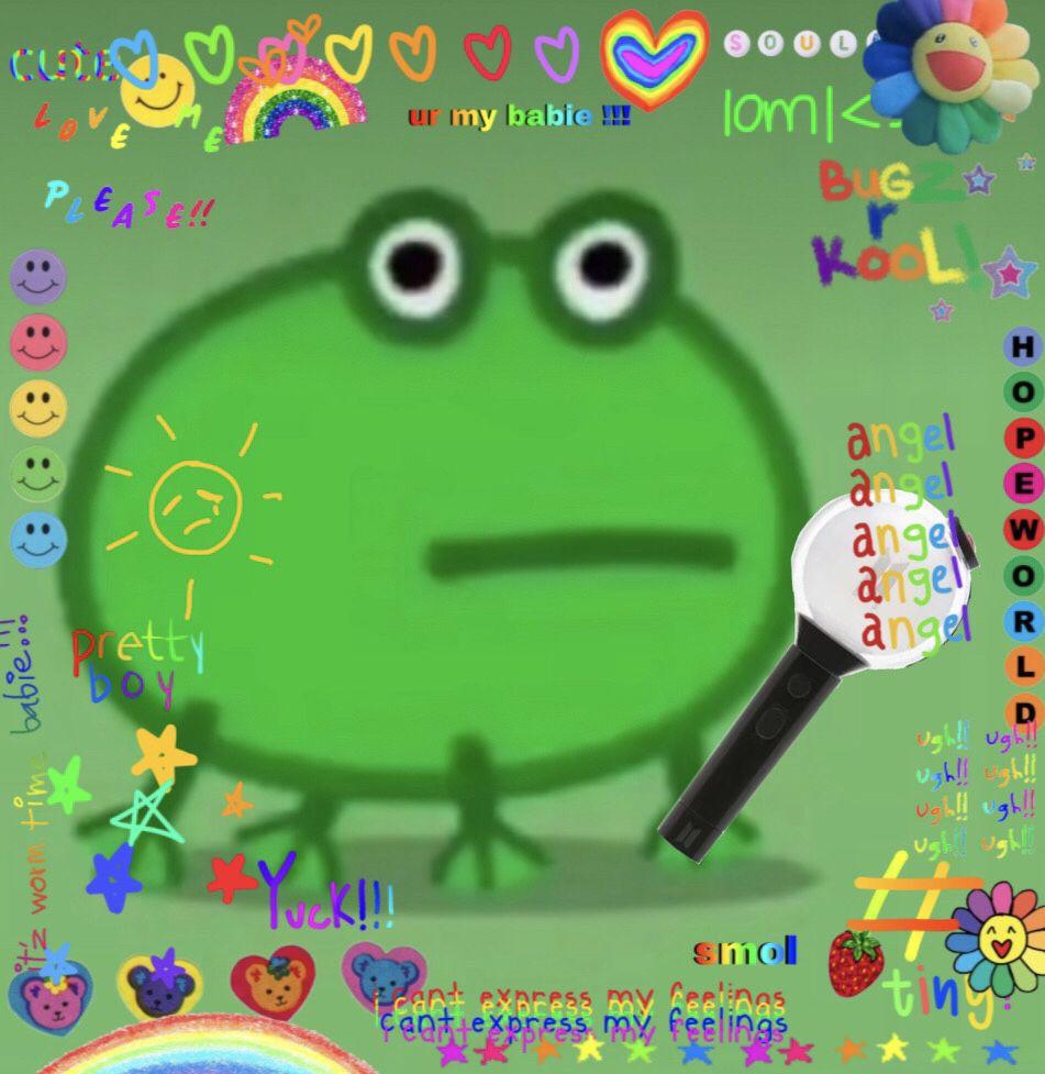Hobicore Peppa Pig Tiktok Frog Bts Frog Meme Amazing Frog Frog Pictures