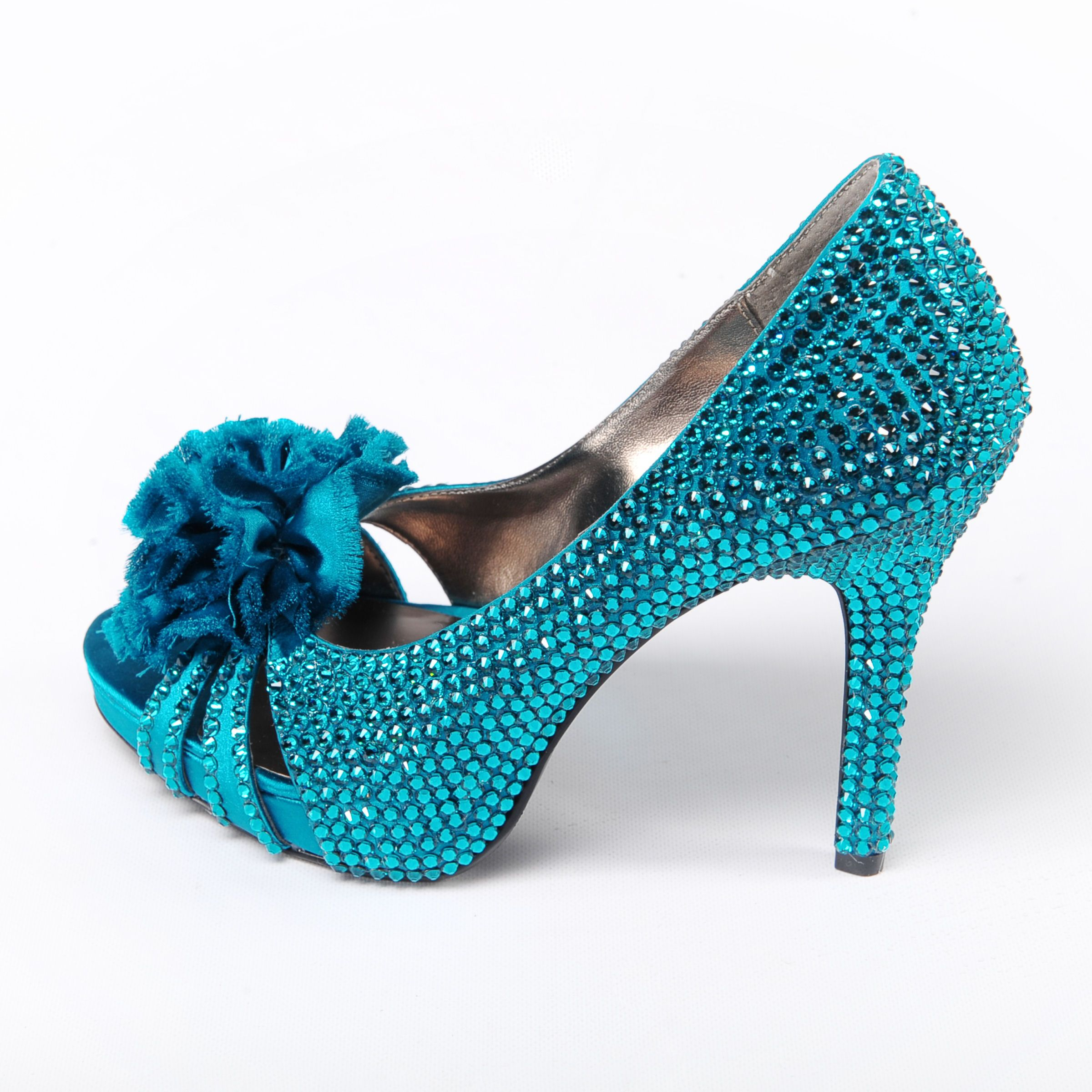 sparkly turquoise heels  Shoes  Turquoise wedding shoes