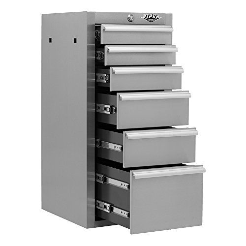 Viper Tool Storage V1606sssc 16 Inch 6 Drawer Brushed 304 Stainless Steel Cabinet