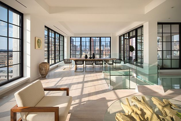 Sky Garage Penthouse In Chelsea Nyc New York Penthouse Luxury Penthouse Celebrity Houses