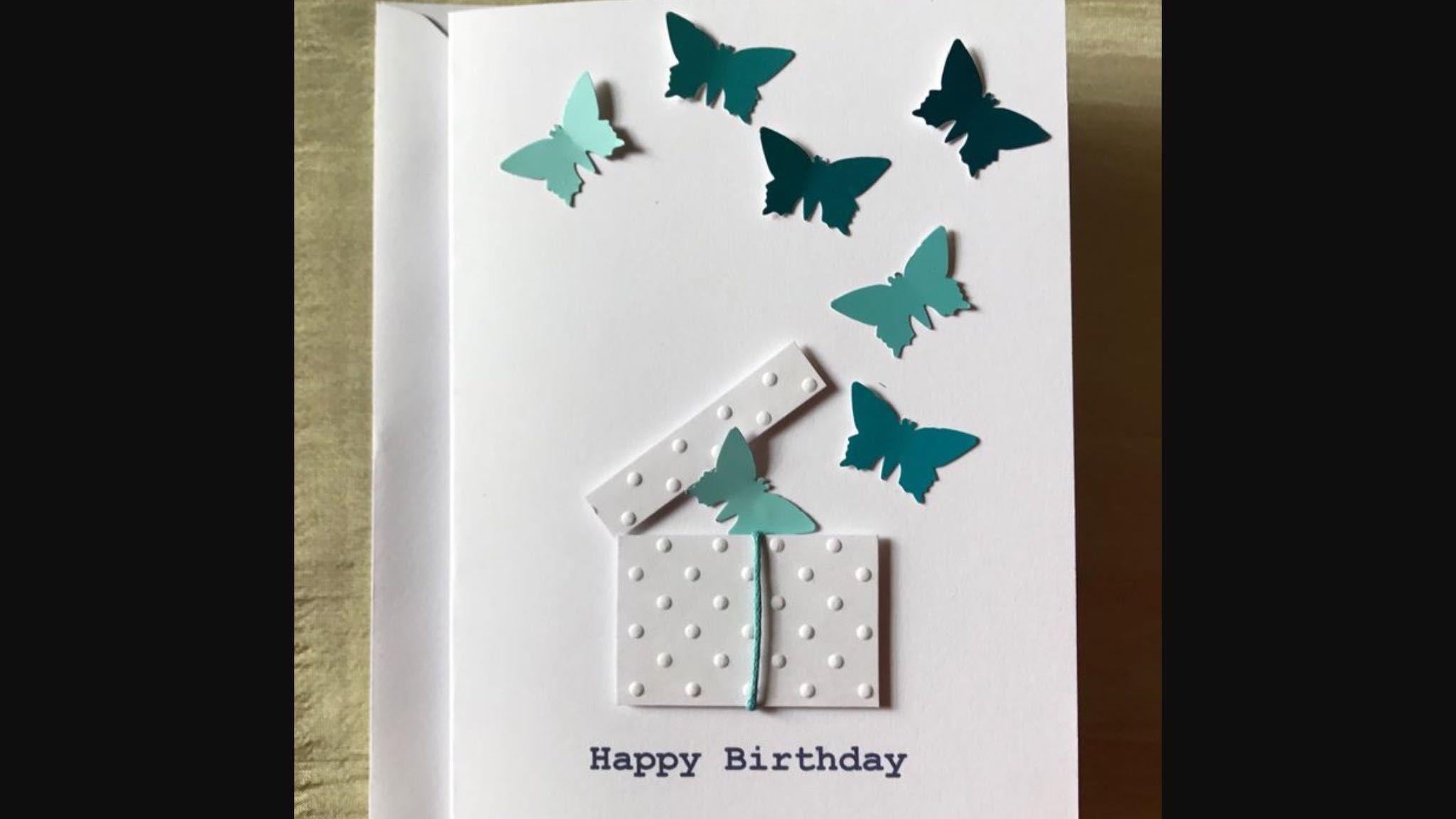 Box of butterflies card butterfly cards cricut design