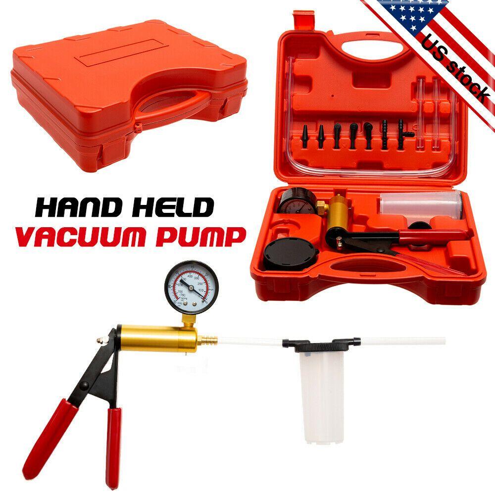 Hand Held Vacuum Pump Tester Kit Brake Fluid Bleeder Tester Set Vacuum Gauge Ebay In 2020 Vacuum Pump Hand Vacuum Handheld Vacuum
