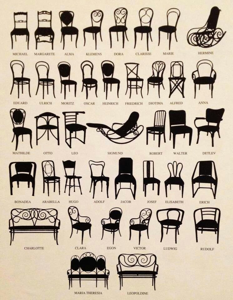 Chairs Thonet Chair Furniture Styles Bentwood Chairs