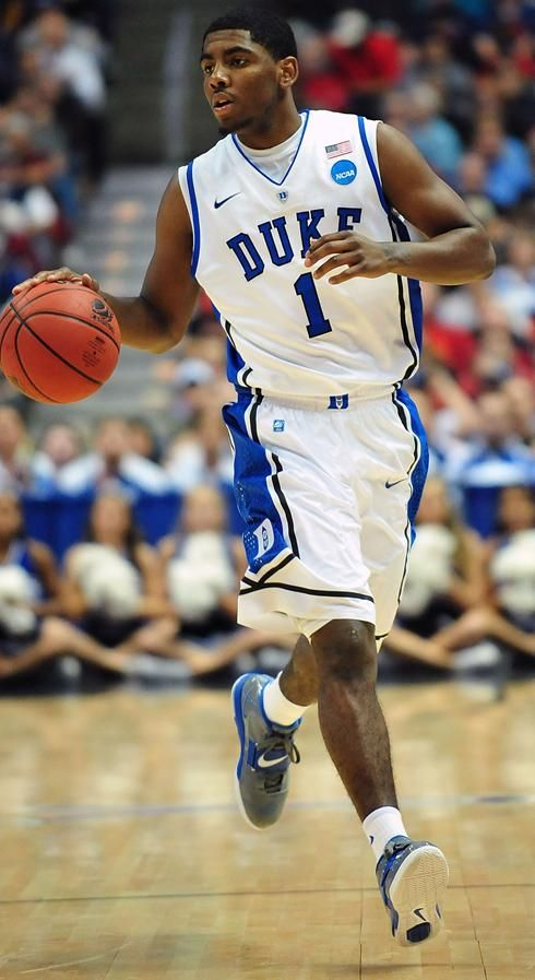 Kyrie Irving playing for Duke under Coach K