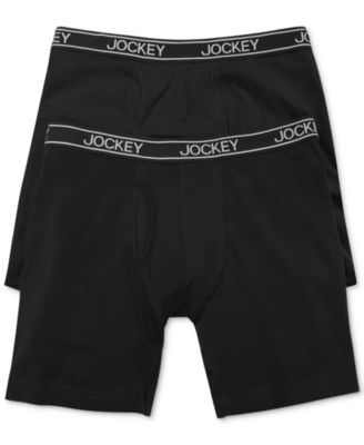9b957582d983 Jockey Men's Cotton Stretch Low-Rise Midway Boxer Briefs 2-Pack ...