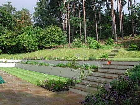 ways to garden on a hill | Split Level Garden Best Way to Build a ...