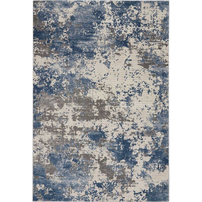 Puccio Textures Abstract Blue Gray Area Rug Area Rugs Blue Gray Area Rug Rugs