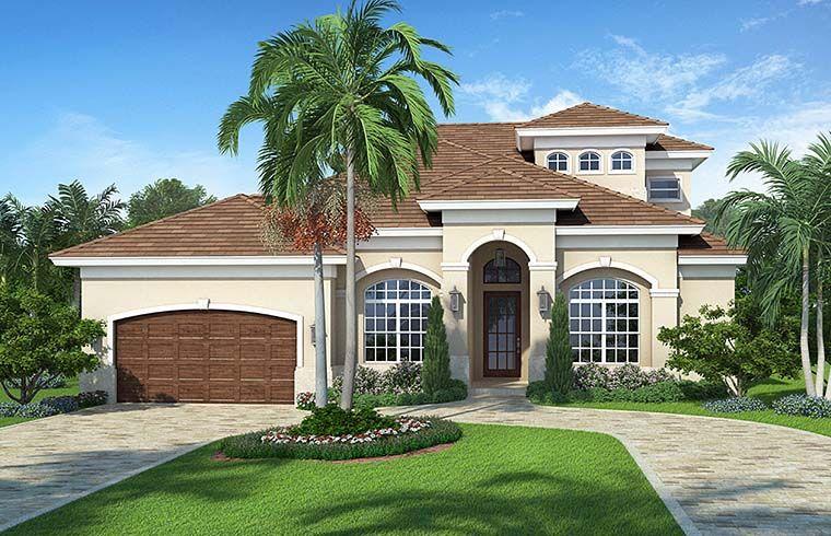 Florida Mediterranean House Plan 78115 Elevation dream houses in