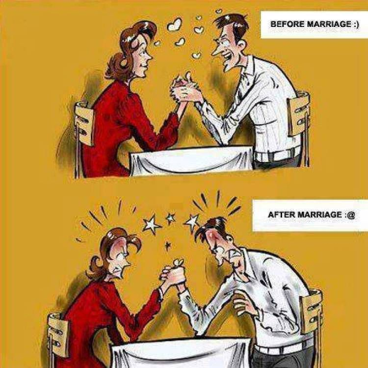 22 Funny Images Narrate The Life Of Men Before And After Marriage Humor Joke Lol Funny Laugh Relationship Cartoons Funny Cartoons Funny Relationship