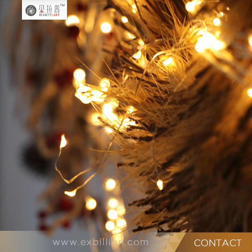 48ft outdoor patio wireless remote control dimmable led christmas string lights
