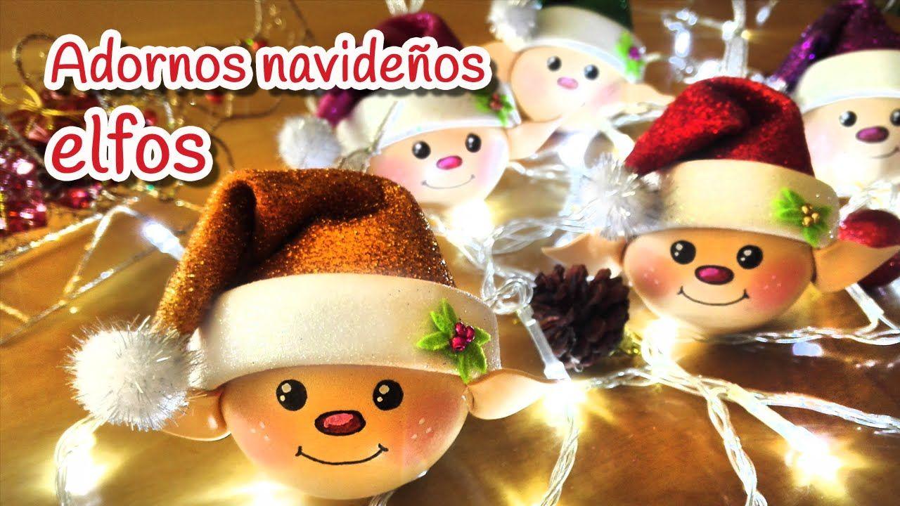 Manualidades Para Navidad Adornos Navide Os Elfos Innova  ~ Manualidades De Adornos Navideños
