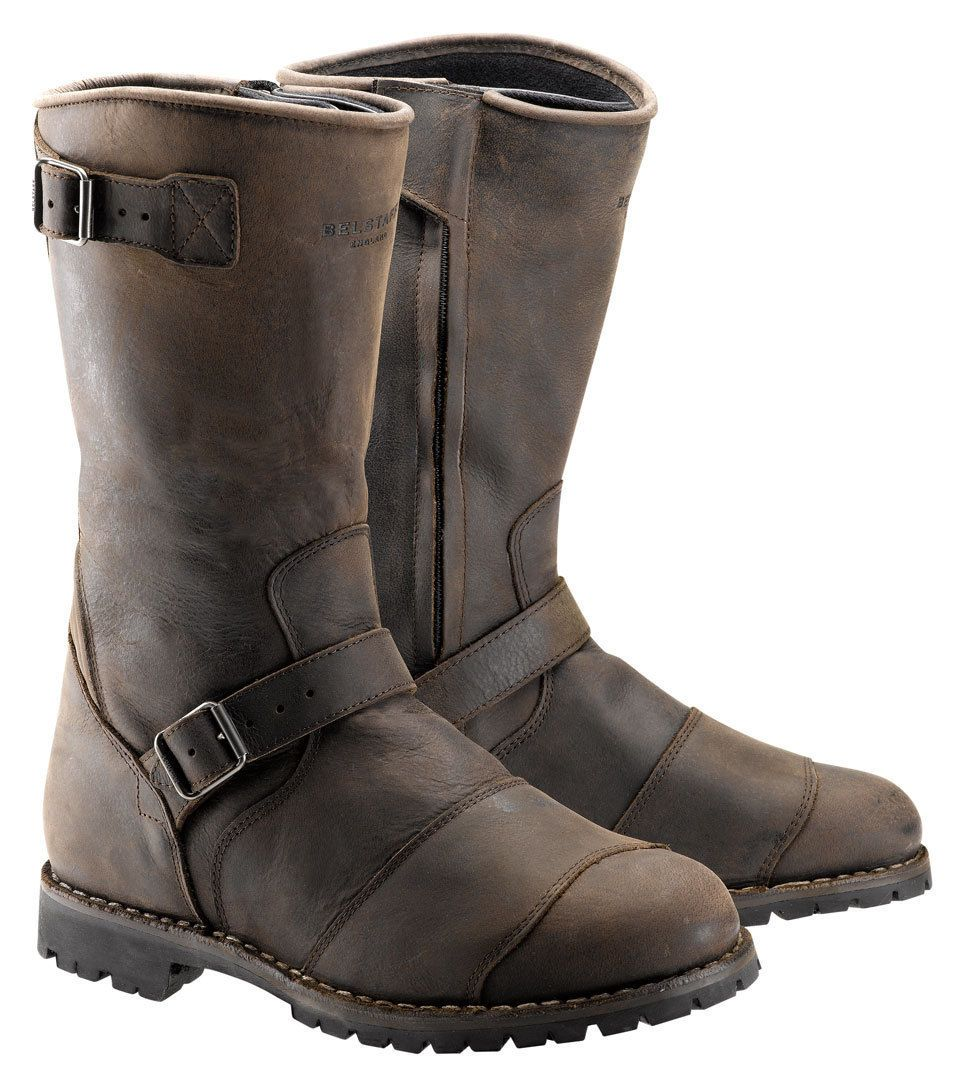 Shop for Belstaff Endurance Boots - Black at the The Cafe Racer. One stop  shop for all your vintage style motorcycle gear and accessories.