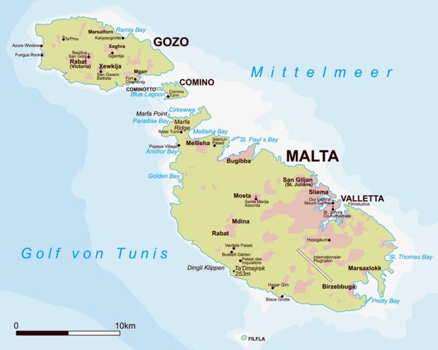 Malta Gozo Map Pin by Kate Lutz on Malta | Malta map, Malta gozo, Malta