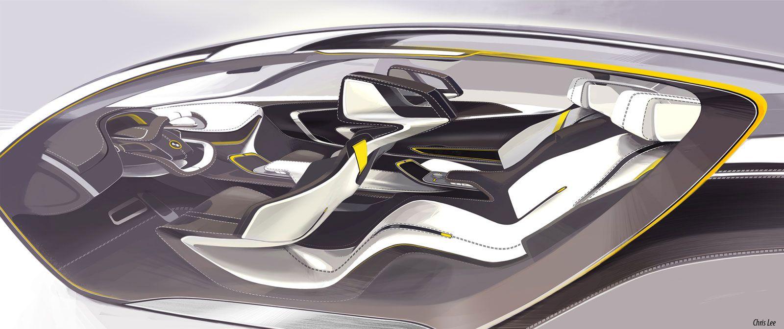 Bmw i6 concept interior design sketch i n t e r i o r