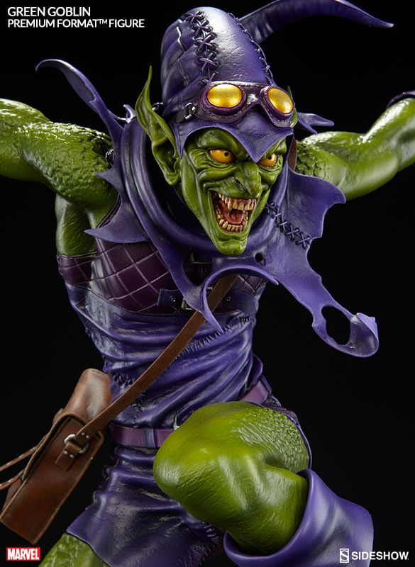marvel green goblin premium format tm figure by sideshow co comic