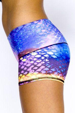 0e919ea6c8 Teeki - Designer Active Wear - Sun Short Mermaid | Workout Gear ...