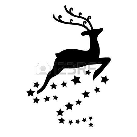 Renos De Navidad Siluetas Navidenas Siluetas De Navidad Cartas De Navidad