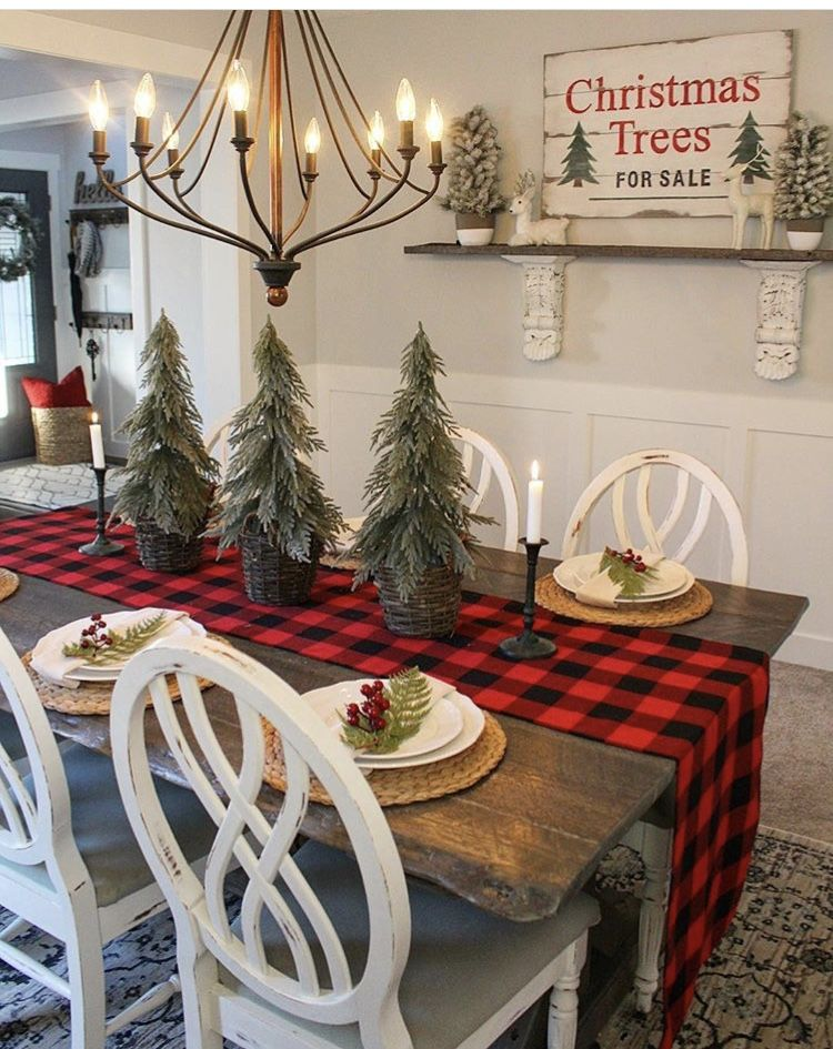 Rustic Christmas Holiday decor Pinterest Rustic christmas