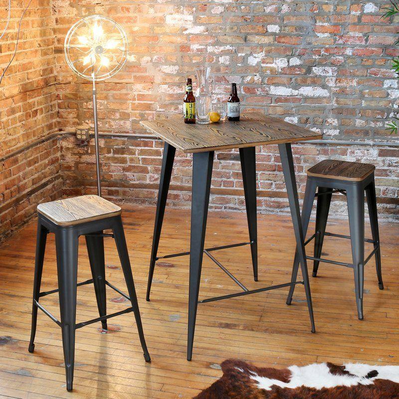 Claremont 3 Piece Pub Table Set Pub Table Sets Bar Table Sets
